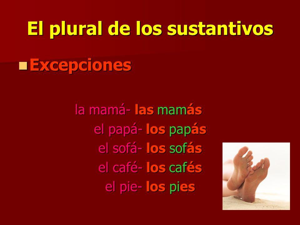 El plural de los sustantivos