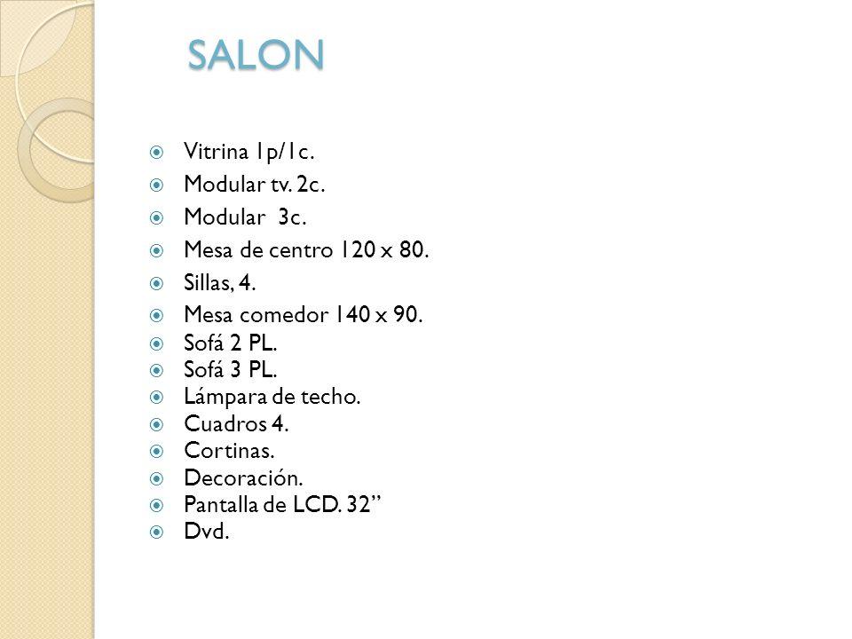 SALON Vitrina 1p/1c. Modular tv. 2c. Modular 3c.