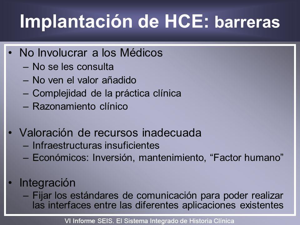 Implantación de HCE: barreras