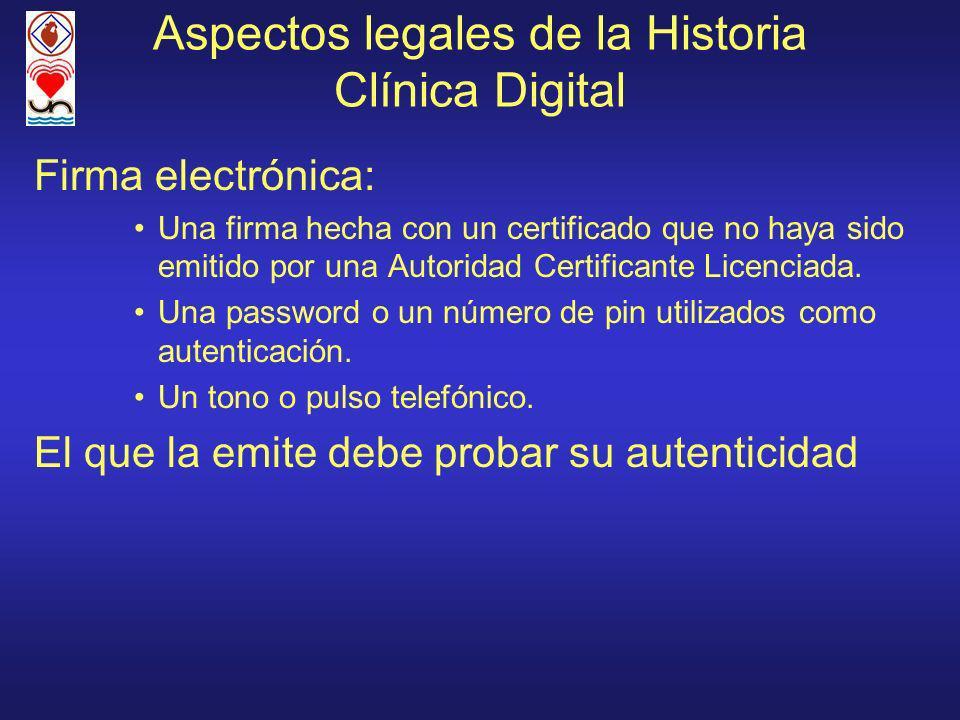 Aspectos legales de la Historia Clínica Digital