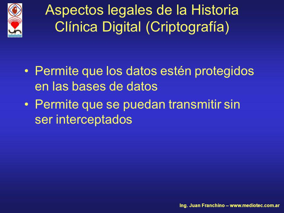 Aspectos legales de la Historia Clínica Digital (Criptografía)