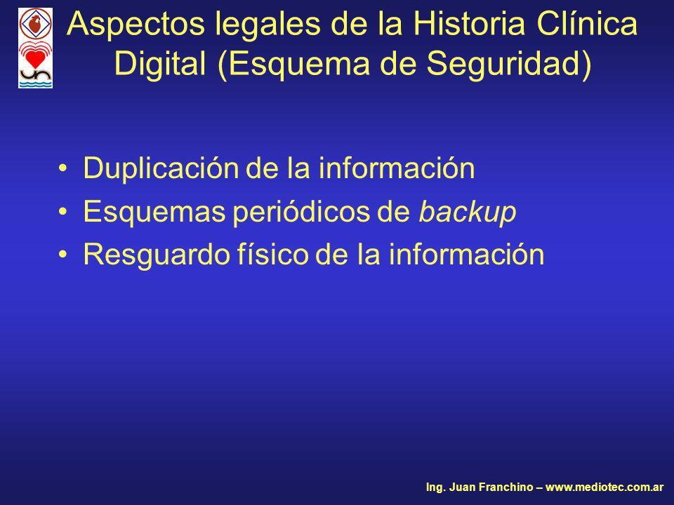 Aspectos legales de la Historia Clínica Digital (Esquema de Seguridad)