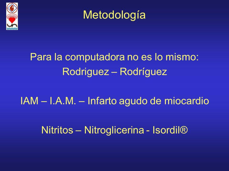 Metodología Para la computadora no es lo mismo: Rodriguez – Rodríguez