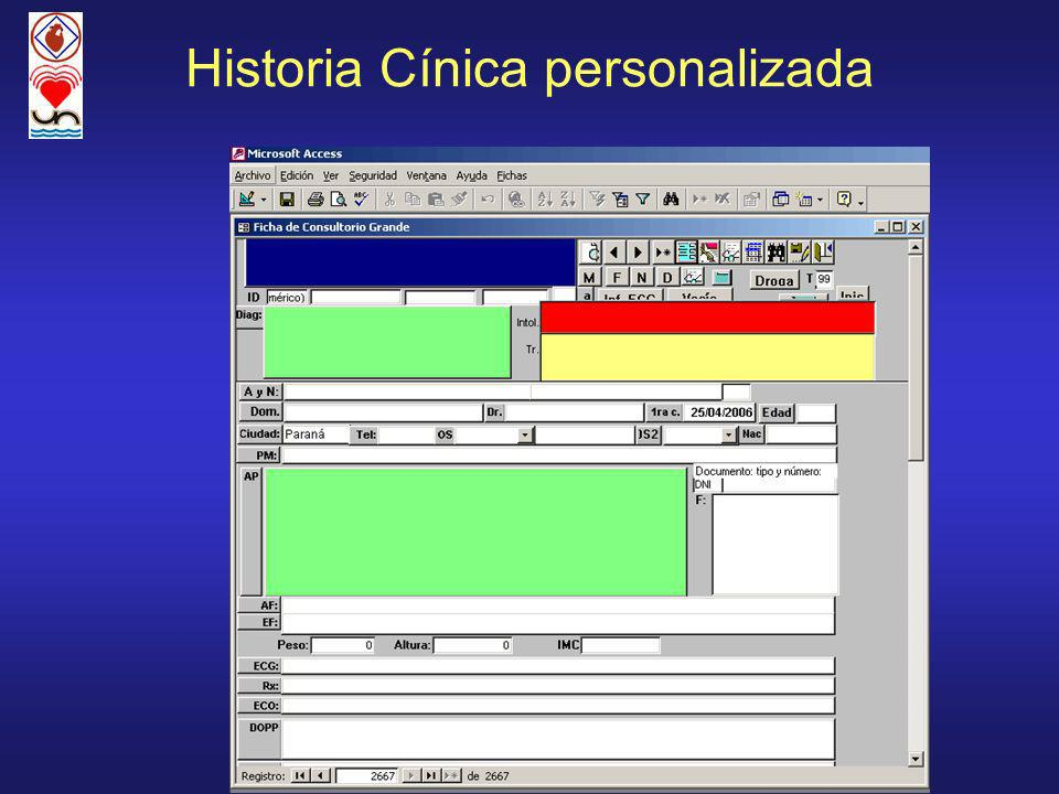 Historia Cínica personalizada