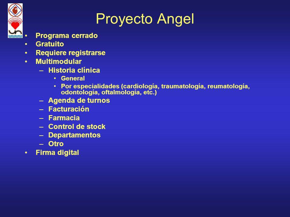 Proyecto Angel Programa cerrado Gratuito Requiere registrarse