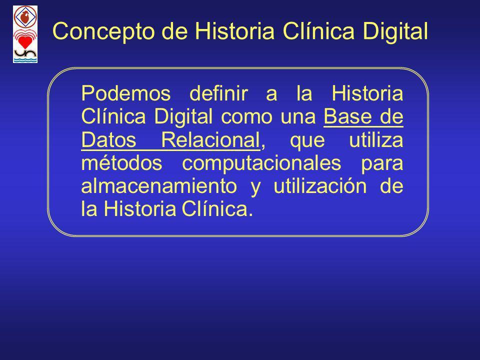 Concepto de Historia Clínica Digital