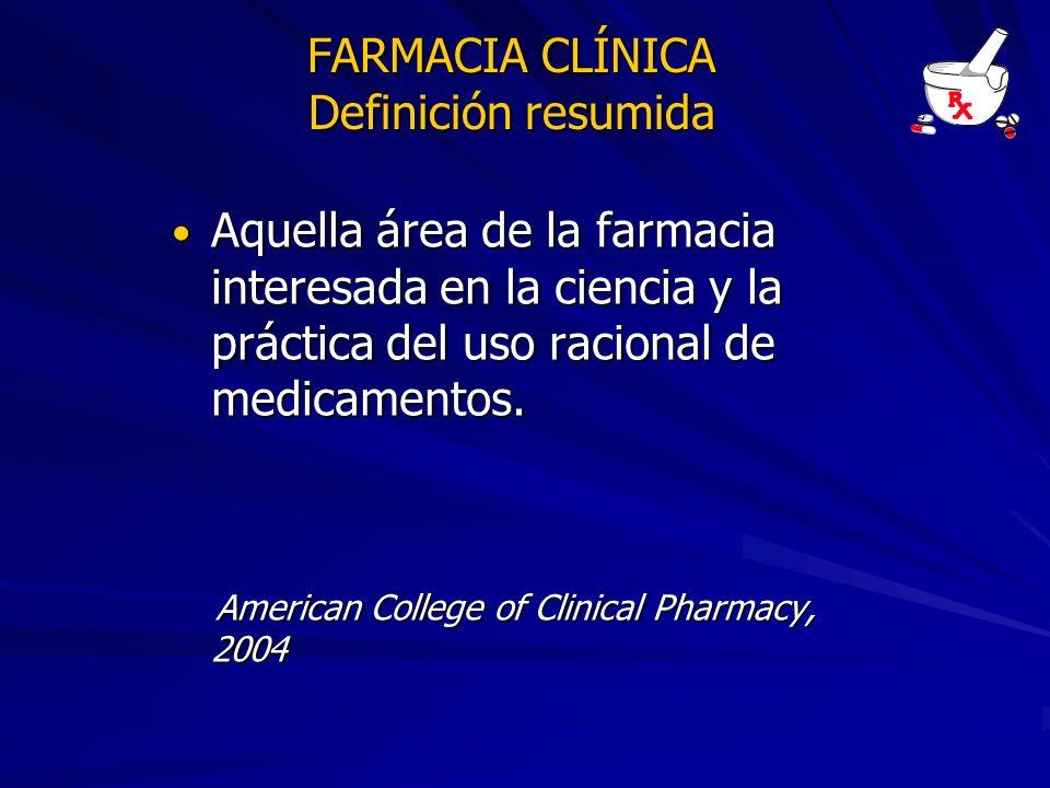 FARMACIA CLÍNICA Definición resumida
