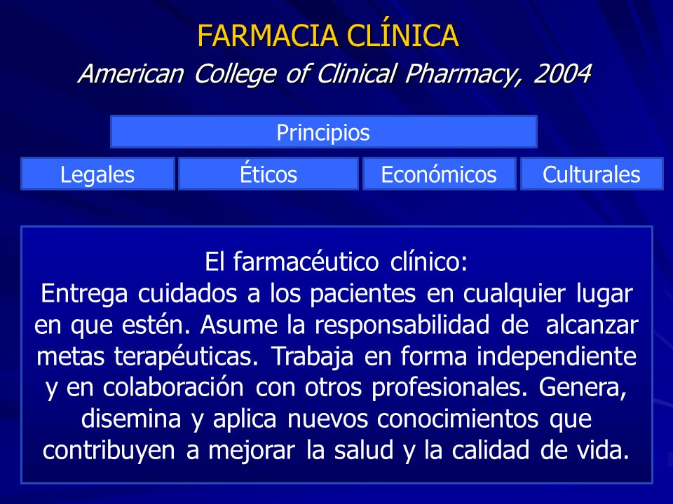 FARMACIA CLÍNICA American College of Clinical Pharmacy, 2004