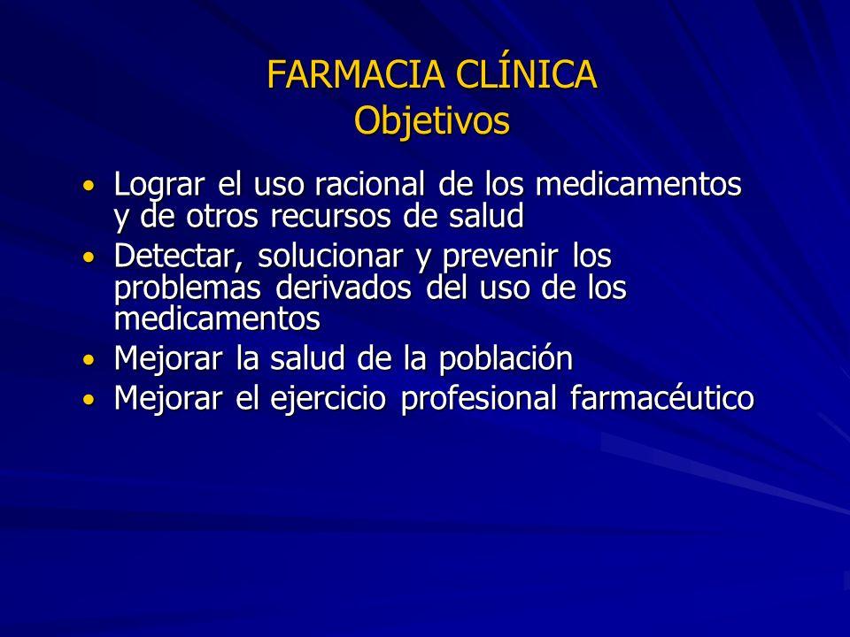 FARMACIA CLÍNICA Objetivos