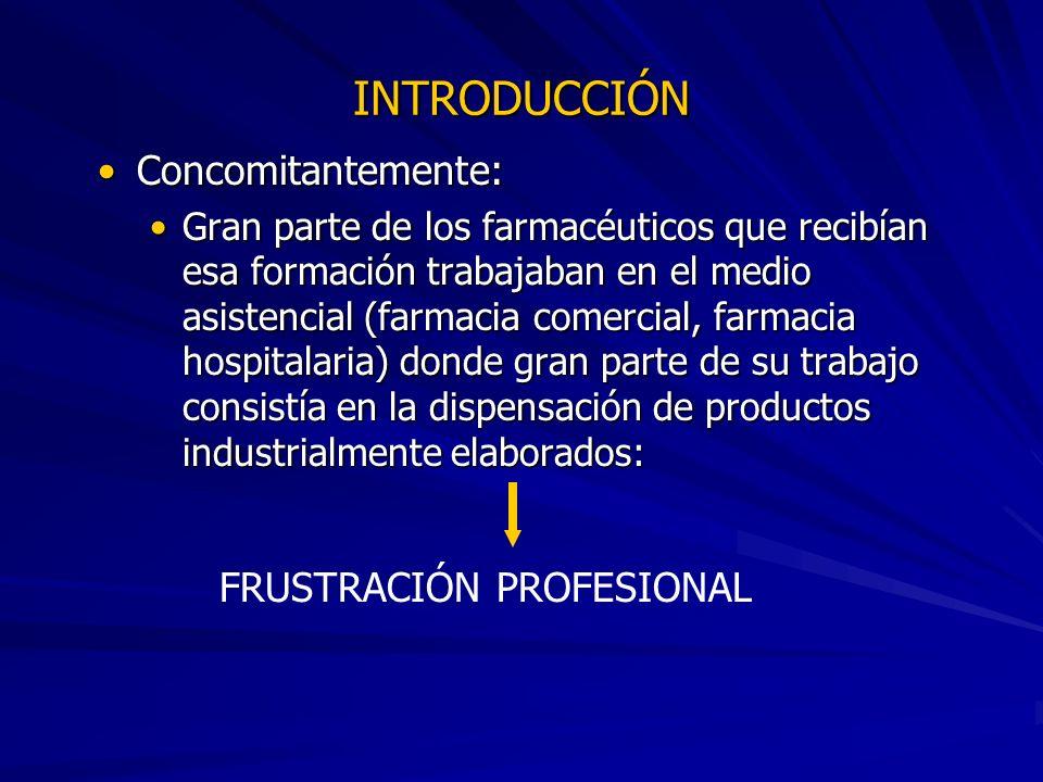 INTRODUCCIÓN Concomitantemente: FRUSTRACIÓN PROFESIONAL