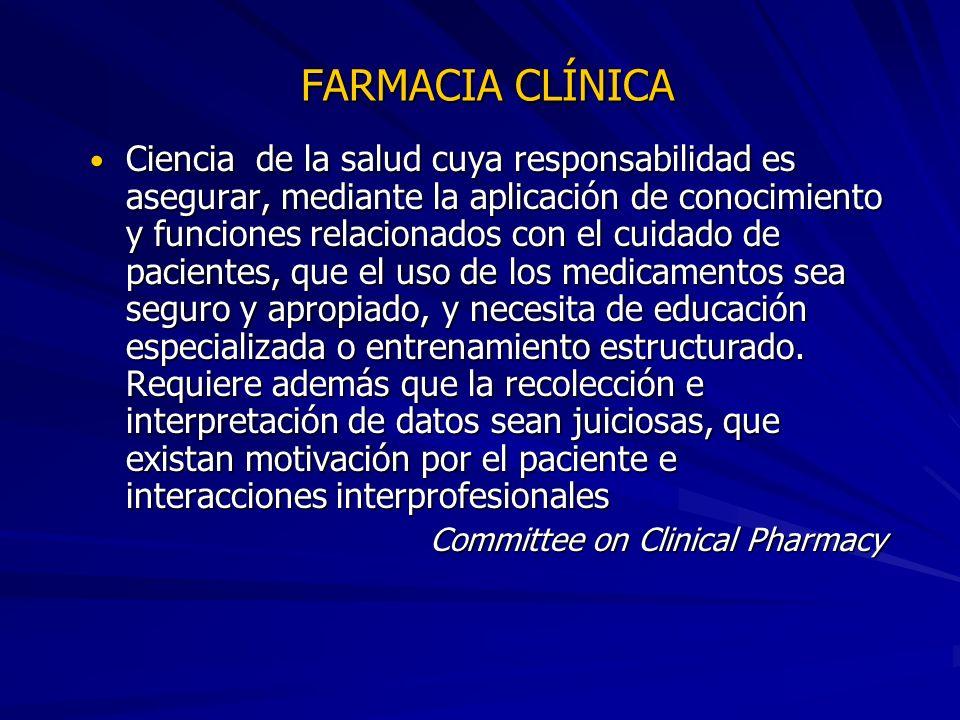 FARMACIA CLÍNICA