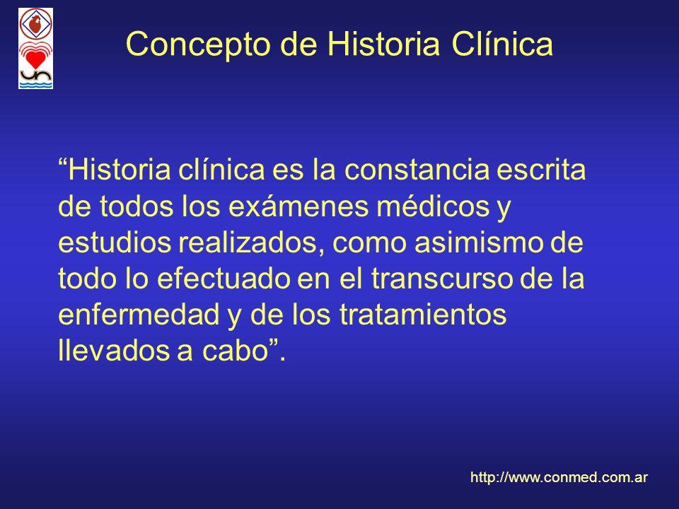 Concepto de Historia Clínica