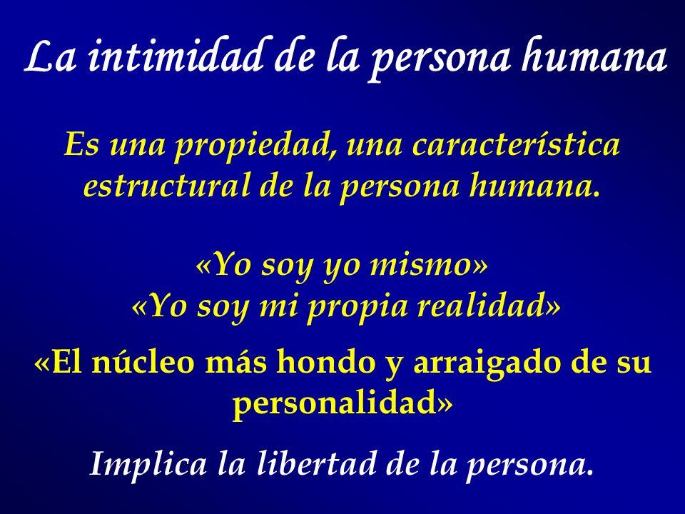 La intimidad de la persona humana