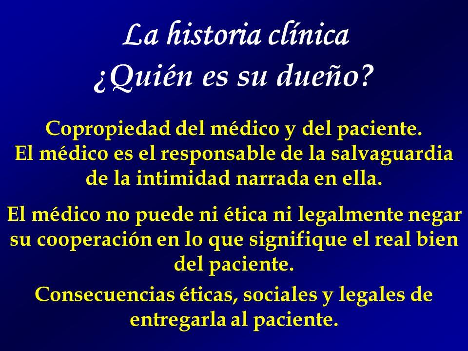 La historia clínica ¿Quién es su dueño