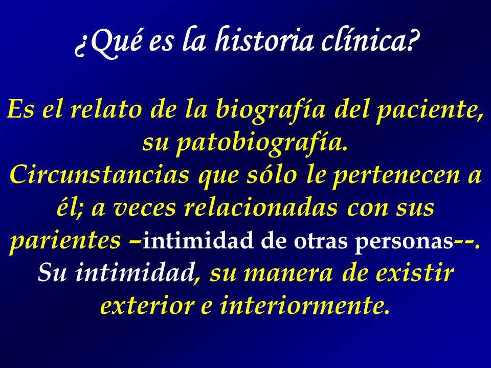 ¿Qué es la historia clínica