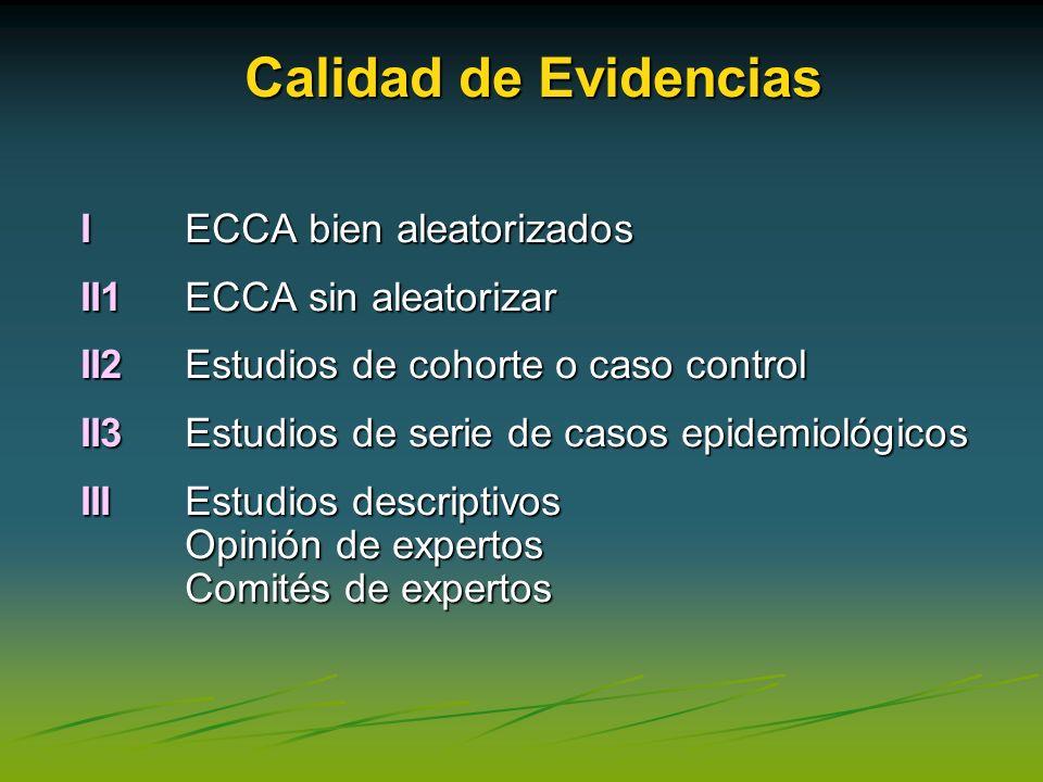Calidad de Evidencias I ECCA bien aleatorizados