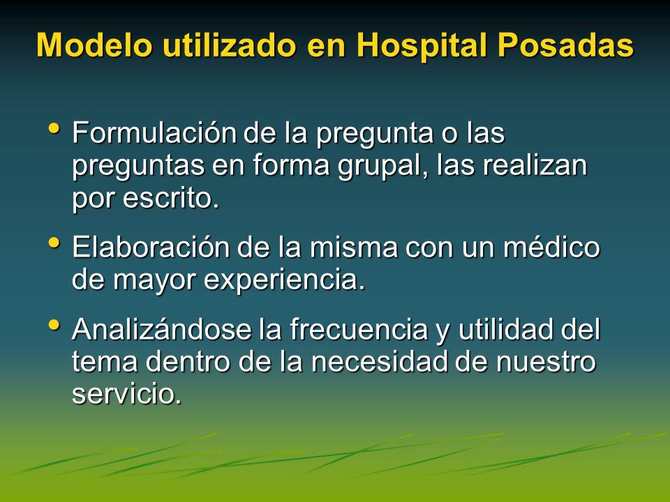 Modelo utilizado en Hospital Posadas