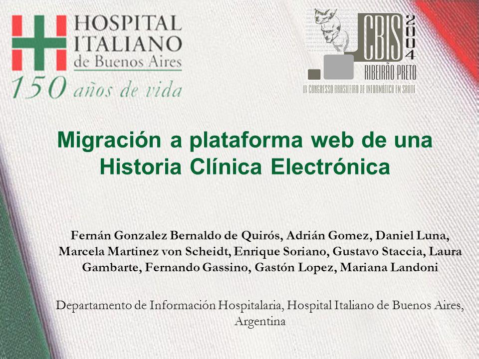 Migración a plataforma web de una Historia Clínica Electrónica