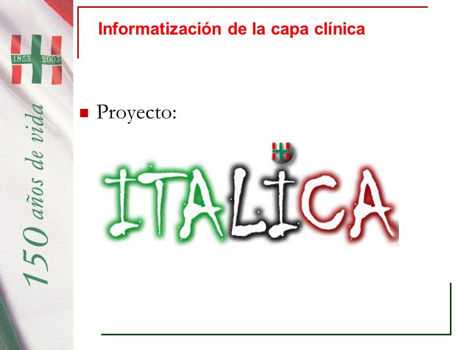 Informatización de la capa clínica
