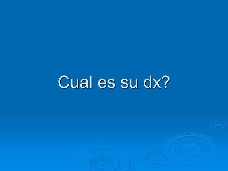 Cual es su dx