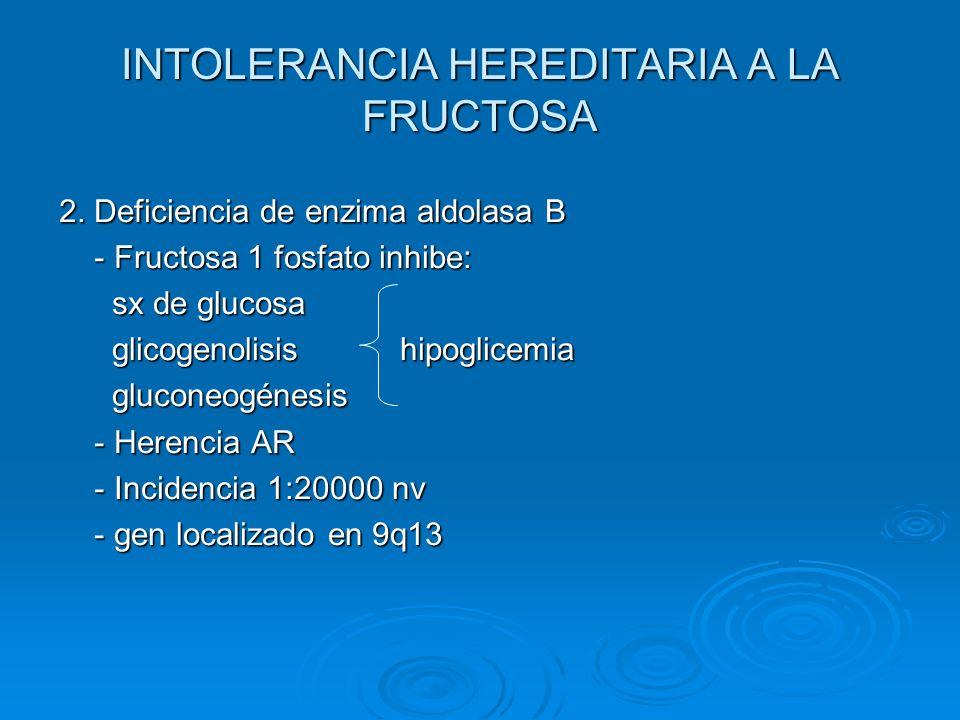INTOLERANCIA HEREDITARIA A LA FRUCTOSA