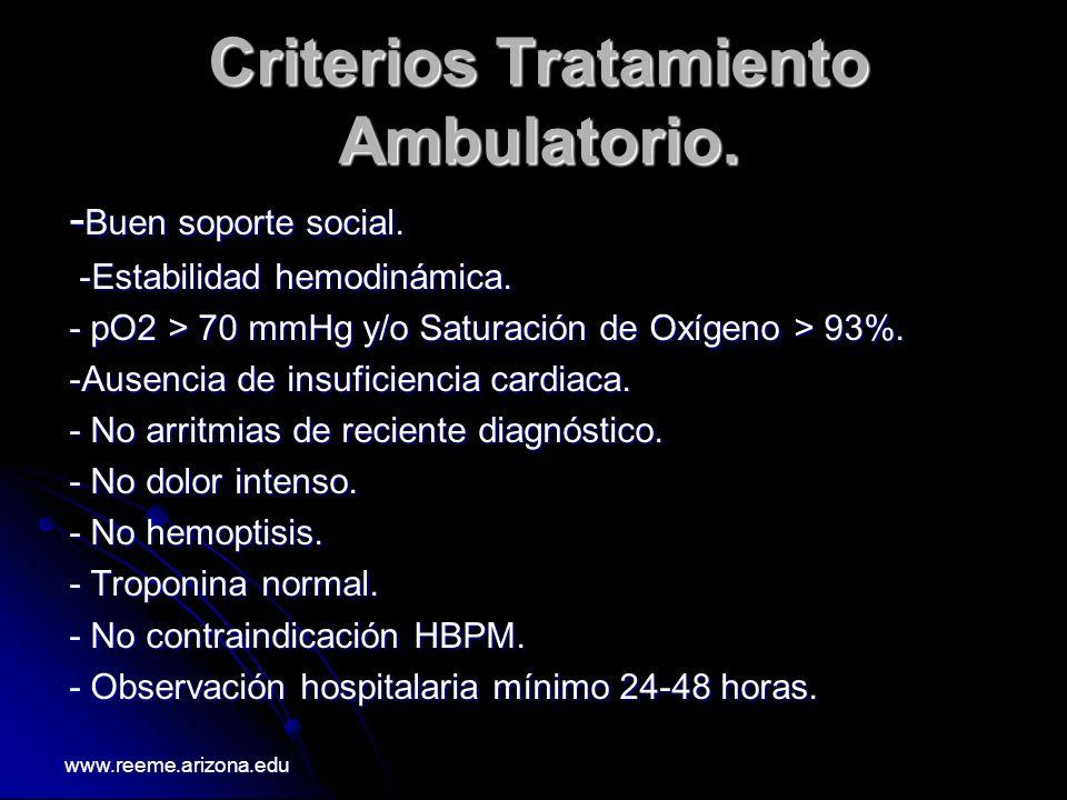 Criterios Tratamiento Ambulatorio.
