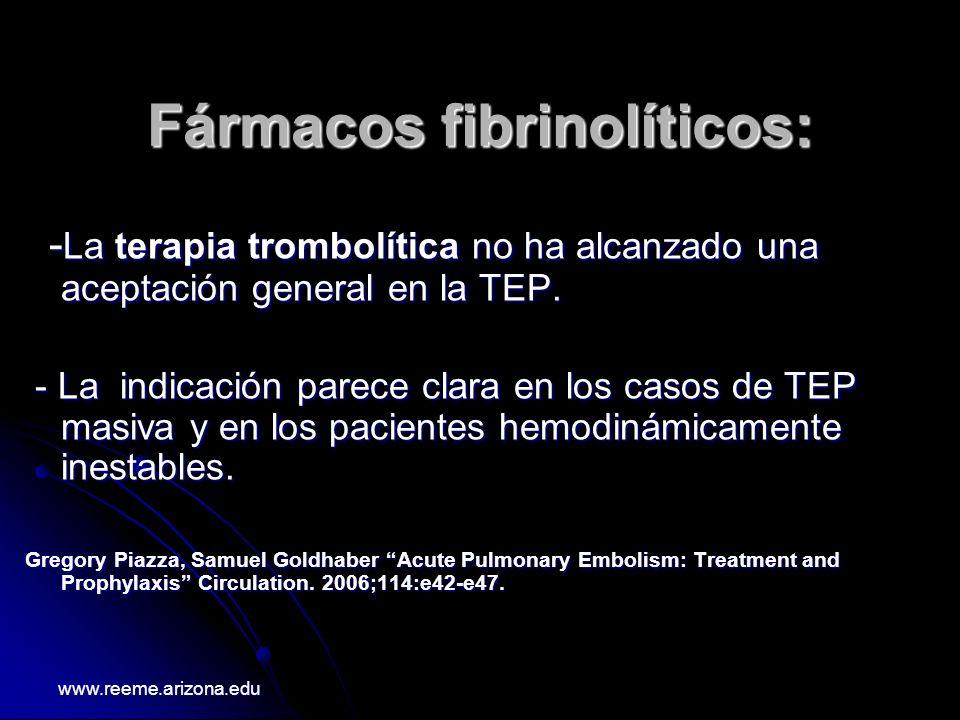 Fármacos fibrinolíticos: