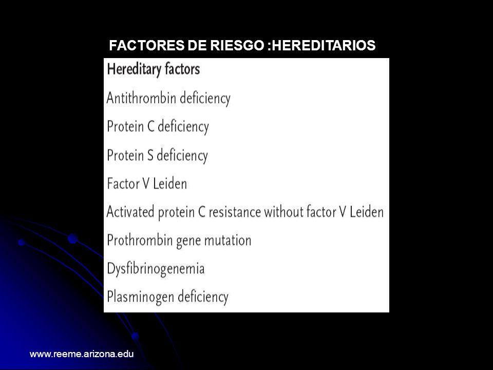 FACTORES DE RIESGO :HEREDITARIOS
