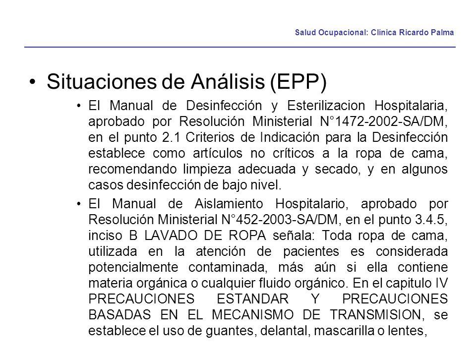 Situaciones de Análisis (EPP)