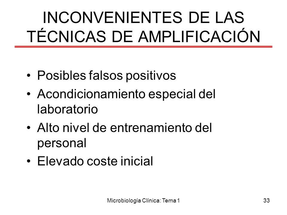 INCONVENIENTES DE LAS TÉCNICAS DE AMPLIFICACIÓN