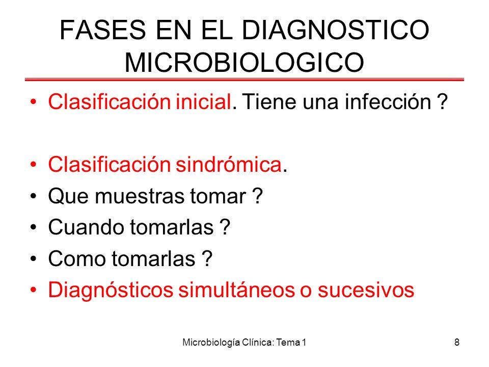 FASES EN EL DIAGNOSTICO MICROBIOLOGICO