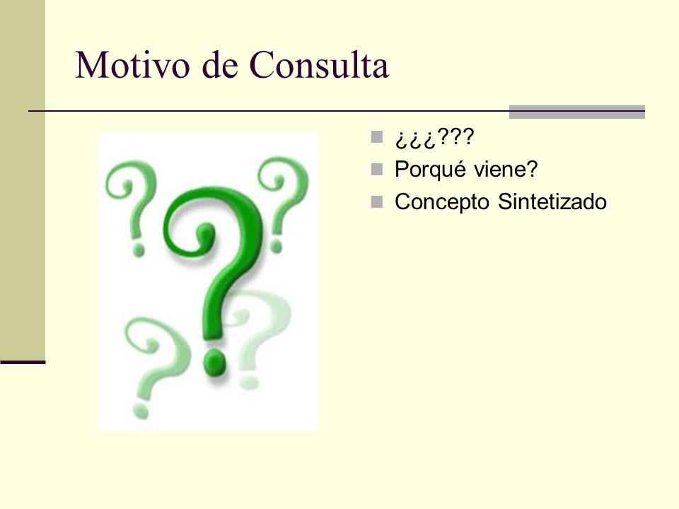 Motivo de Consulta ¿¿¿ Porqué viene Concepto Sintetizado