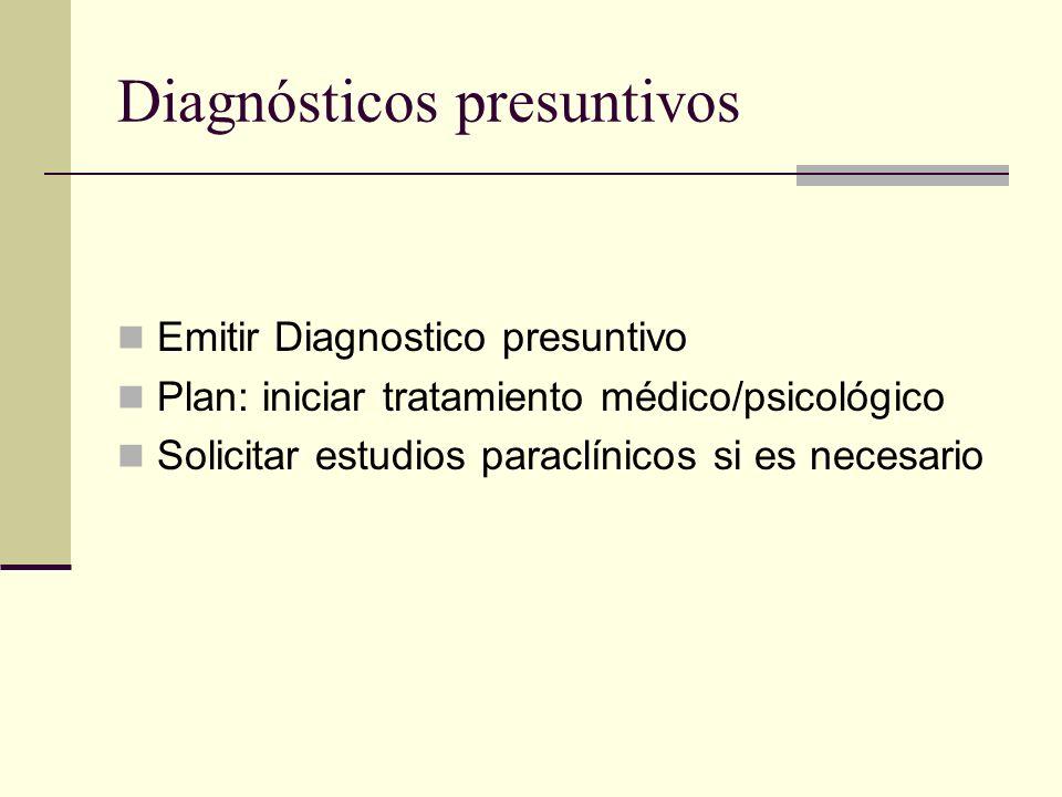 Diagnósticos presuntivos