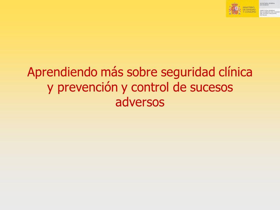 Seguridad clínica y prevención de EA
