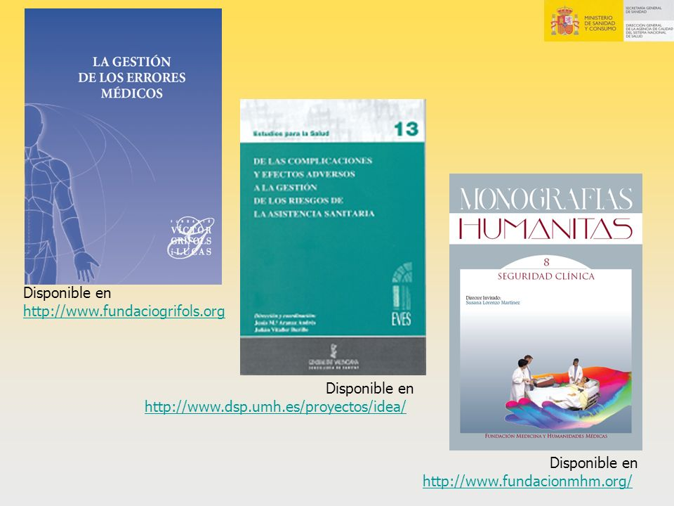 Disponible en http://www.fundaciogrifols.org. Disponible en. http://www.dsp.umh.es/proyectos/idea/