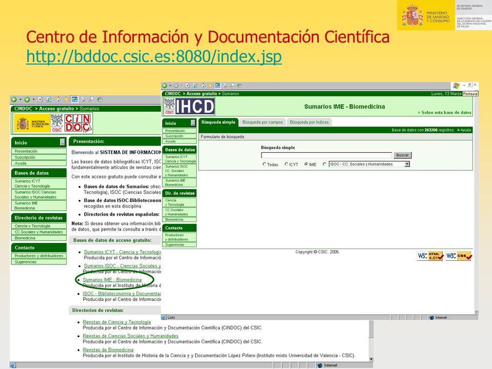 Centro de Información y Documentación Científica http://bddoc. csic