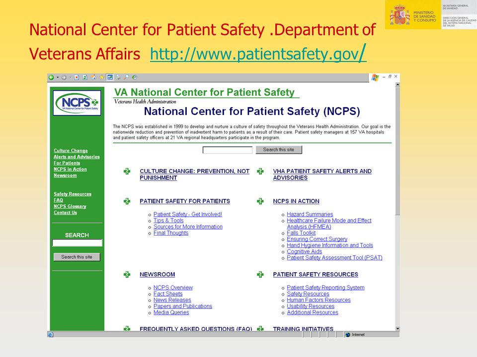 National Center for Patient Safety
