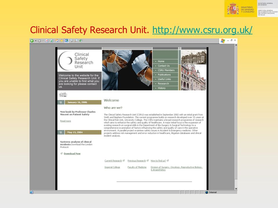 Clinical Safety Research Unit. http://www.csru.org.uk/