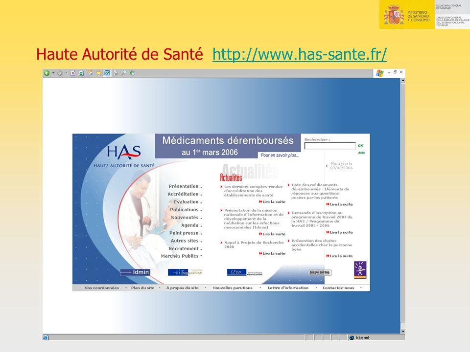 Haute Autorité de Santé http://www.has-sante.fr/