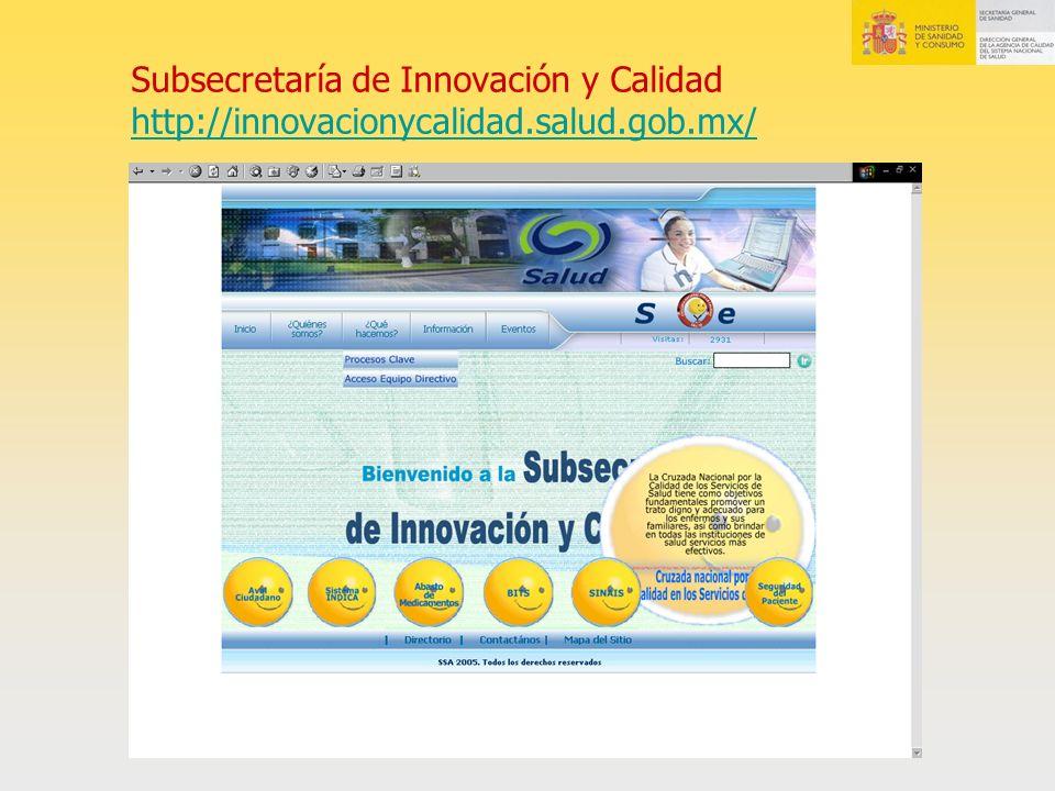Subsecretaría de Innovación y Calidad http://innovacionycalidad. salud