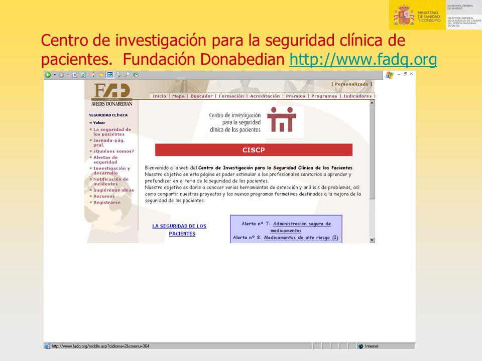 Centro de investigación para la seguridad clínica de pacientes