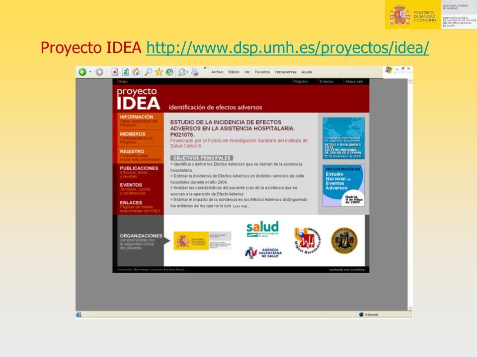 Proyecto IDEA http://www.dsp.umh.es/proyectos/idea/
