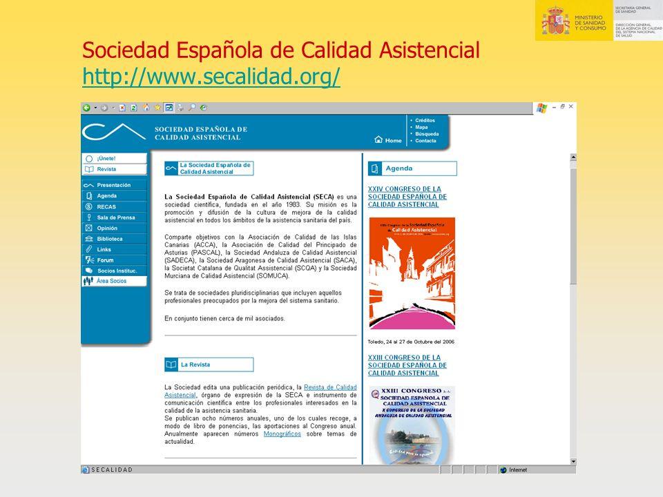 Sociedad Española de Calidad Asistencial http://www.secalidad.org/