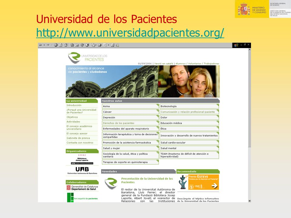 Universidad de los Pacientes http://www.universidadpacientes.org/