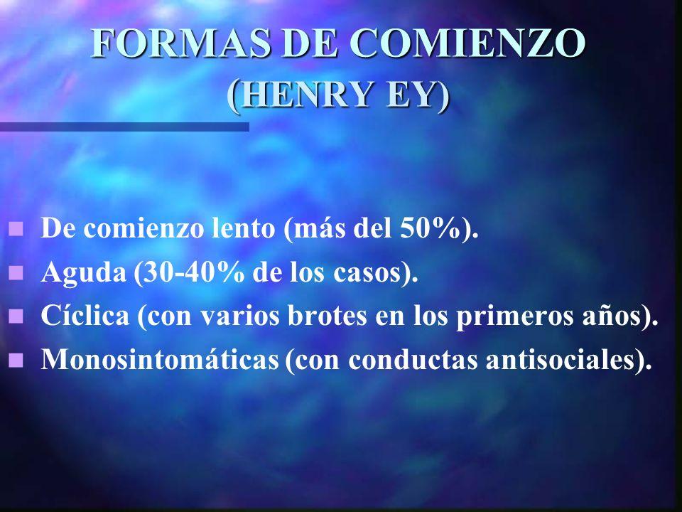 FORMAS DE COMIENZO (HENRY EY)