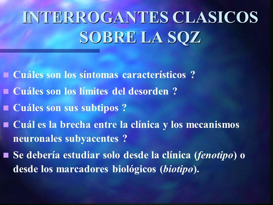 INTERROGANTES CLASICOS SOBRE LA SQZ