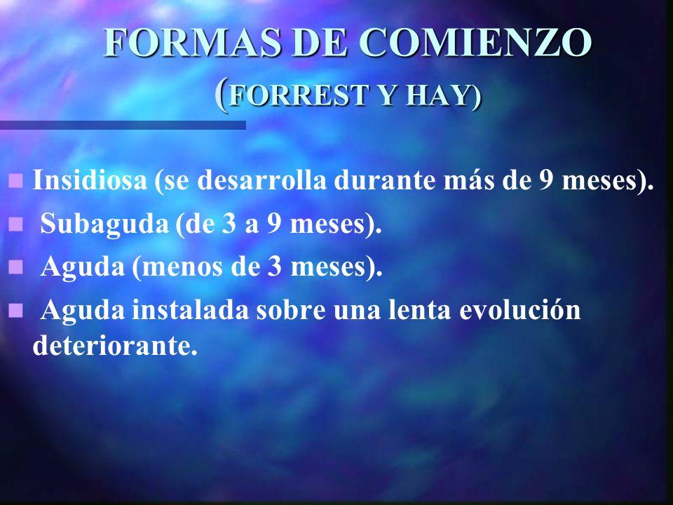 FORMAS DE COMIENZO (FORREST Y HAY)