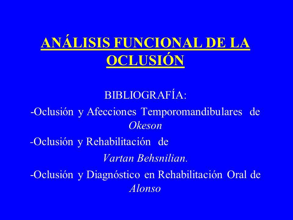 ANÁLISIS FUNCIONAL DE LA OCLUSIÓN