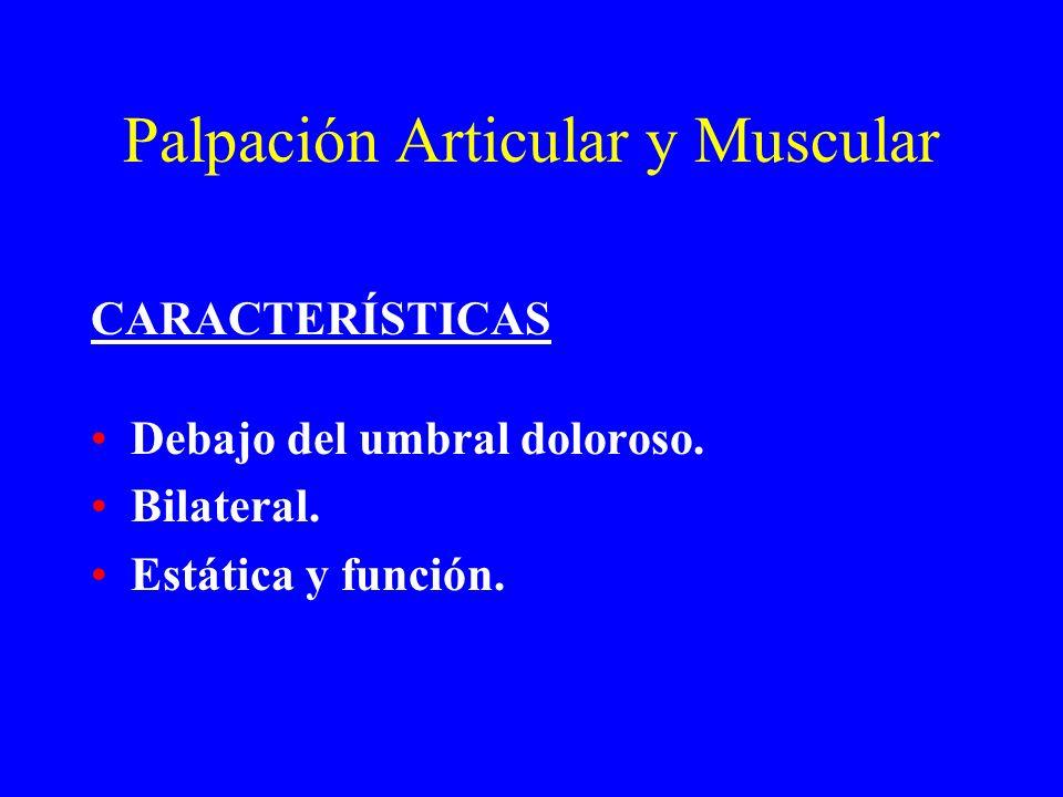 Palpación Articular y Muscular