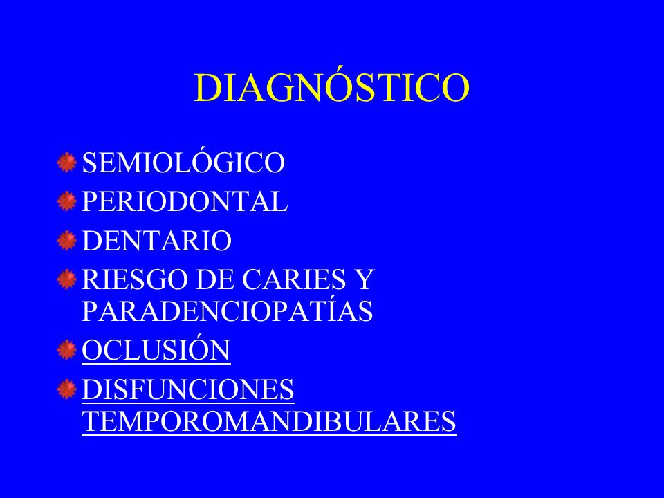 DIAGNÓSTICO SEMIOLÓGICO PERIODONTAL DENTARIO